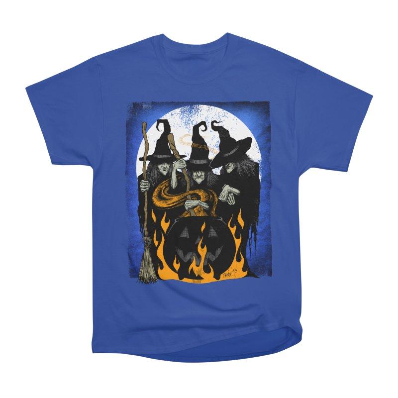Cauldron Crones Women's Heavyweight Unisex T-Shirt by The Dark Art of Chad Savage