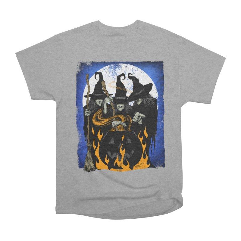 Cauldron Crones Men's Heavyweight T-Shirt by The Dark Art of Chad Savage