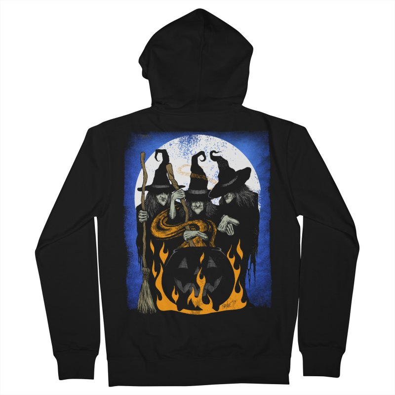 Cauldron Crones Women's French Terry Zip-Up Hoody by The Dark Art of Chad Savage