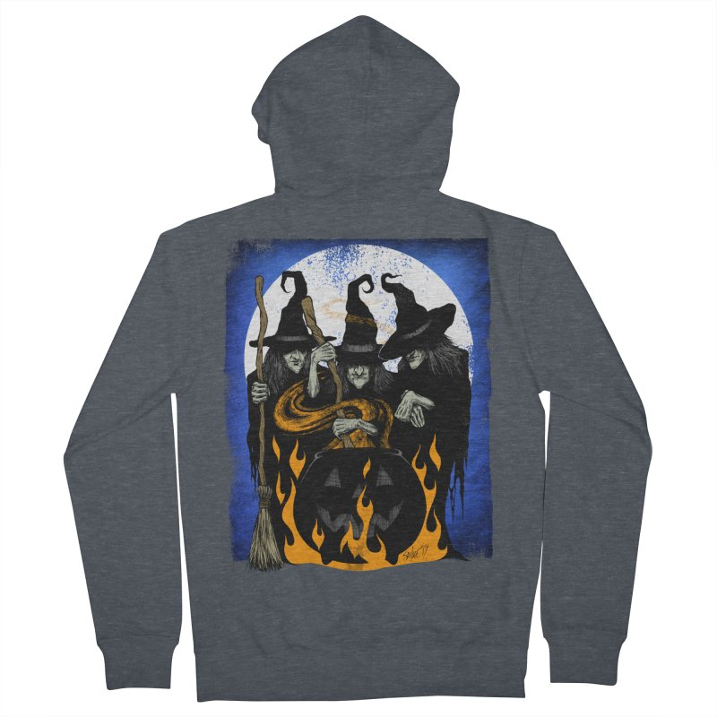 Cauldron Crones Men's French Terry Zip-Up Hoody by The Dark Art of Chad Savage
