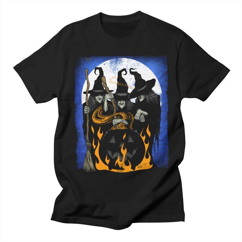 Cauldron Crones Women's Regular Unisex T-Shirt by The Dark Art of Chad Savage