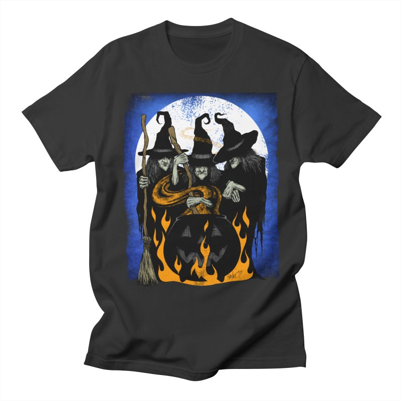 Cauldron Crones Women's Regular Unisex T-Shirt by The Dark Art of Chad Savage
