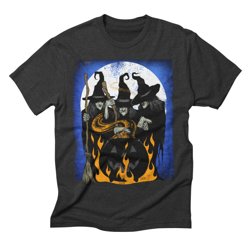 Cauldron Crones Men's Triblend T-Shirt by The Dark Art of Chad Savage