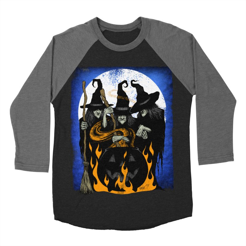 Cauldron Crones Men's Baseball Triblend T-Shirt by The Dark Art of Chad Savage