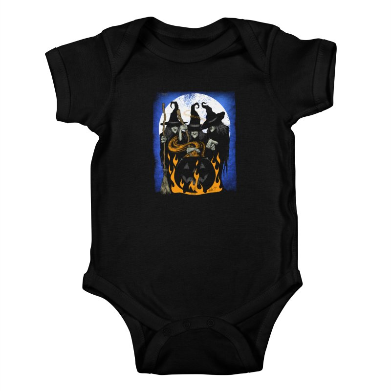 Cauldron Crones Kids Baby Bodysuit by The Dark Art of Chad Savage