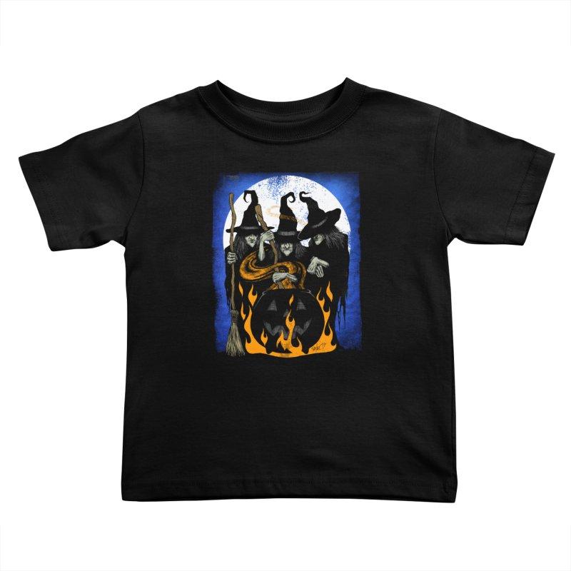 Cauldron Crones Kids Toddler T-Shirt by The Dark Art of Chad Savage