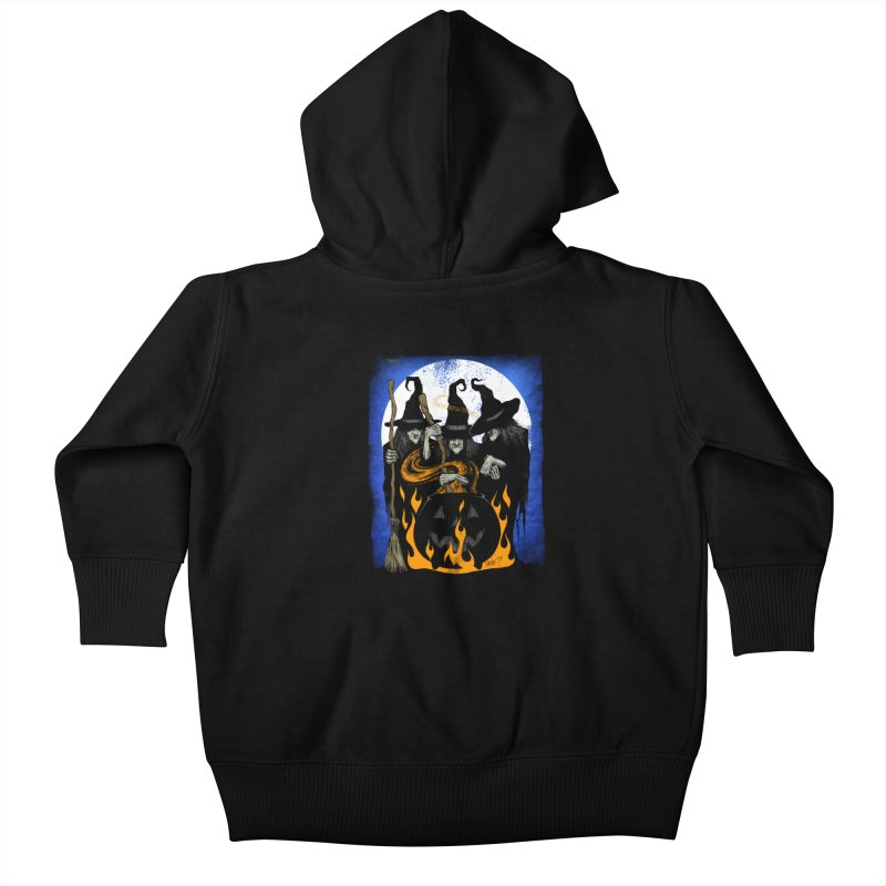 Cauldron Crones Kids Baby Zip-Up Hoody by The Dark Art of Chad Savage