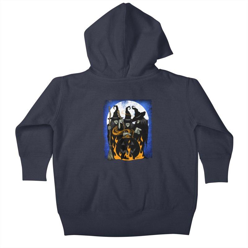 Cauldron Crones Kids Baby Zip-Up Hoody by The Dark Art of Chad Savage