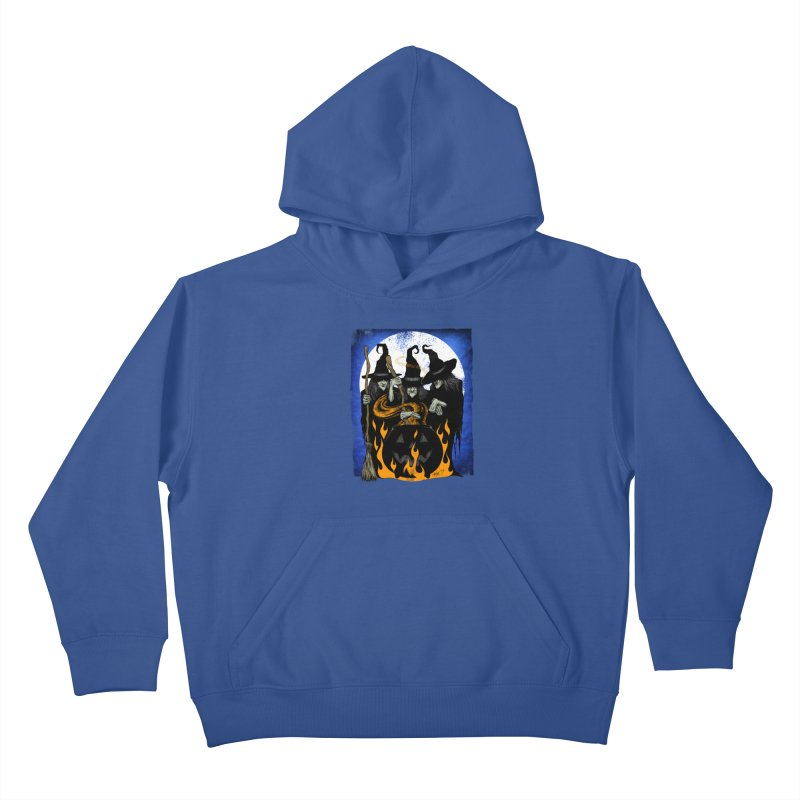 Cauldron Crones Kids Pullover Hoody by The Dark Art of Chad Savage