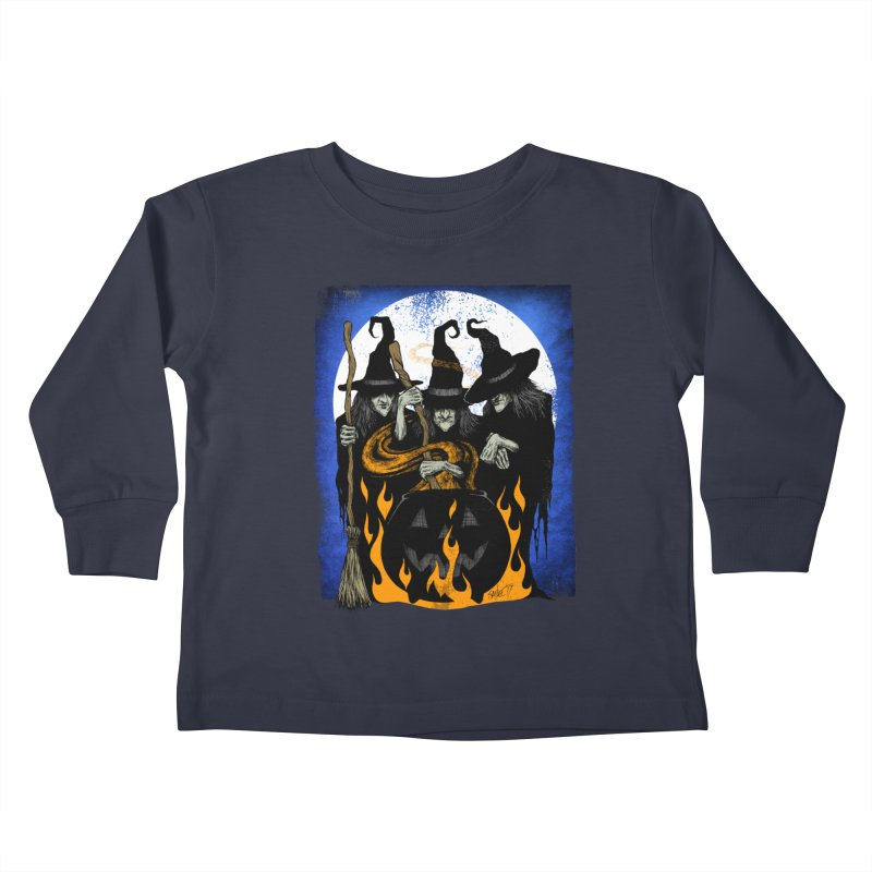 Cauldron Crones Kids Toddler Longsleeve T-Shirt by The Dark Art of Chad Savage