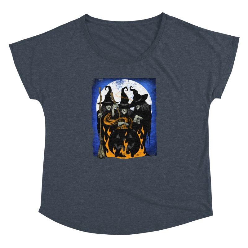 Cauldron Crones Women's Dolman Scoop Neck by The Dark Art of Chad Savage