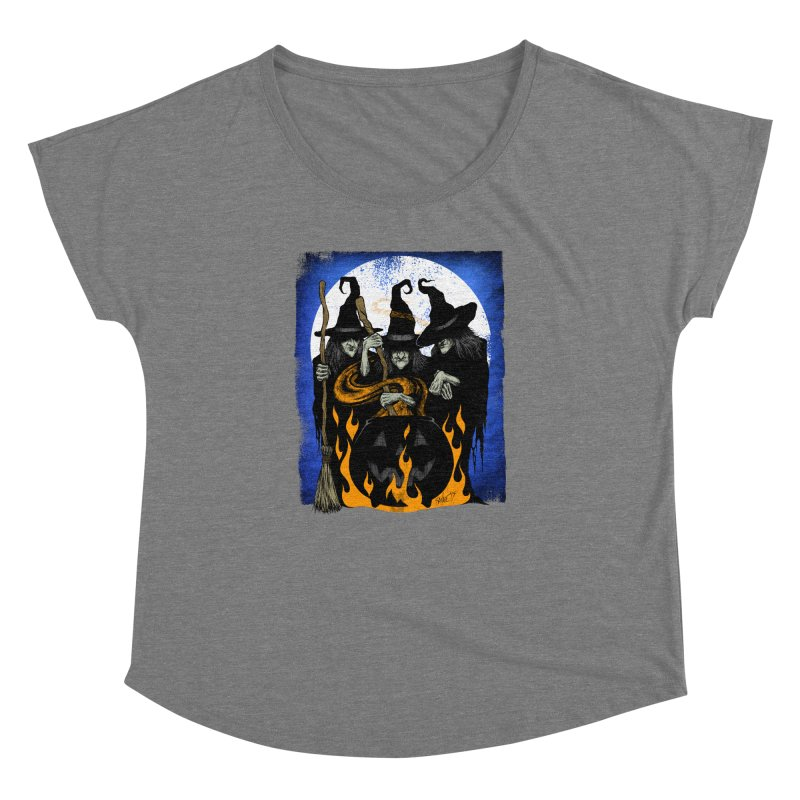 Cauldron Crones Women's Dolman Scoop Neck by The Dark Art of Chad Savage