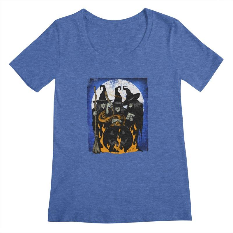 Cauldron Crones Women's Regular Scoop Neck by The Dark Art of Chad Savage