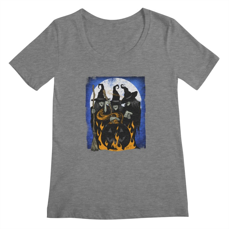 Cauldron Crones Women's Scoopneck by The Dark Art of Chad Savage