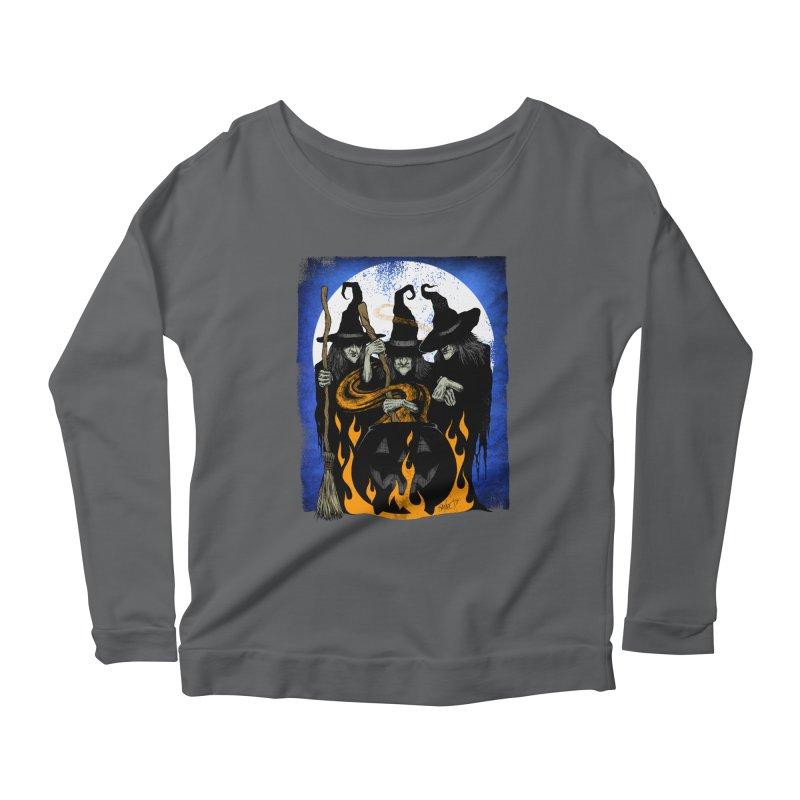 Cauldron Crones Women's Scoop Neck Longsleeve T-Shirt by The Dark Art of Chad Savage