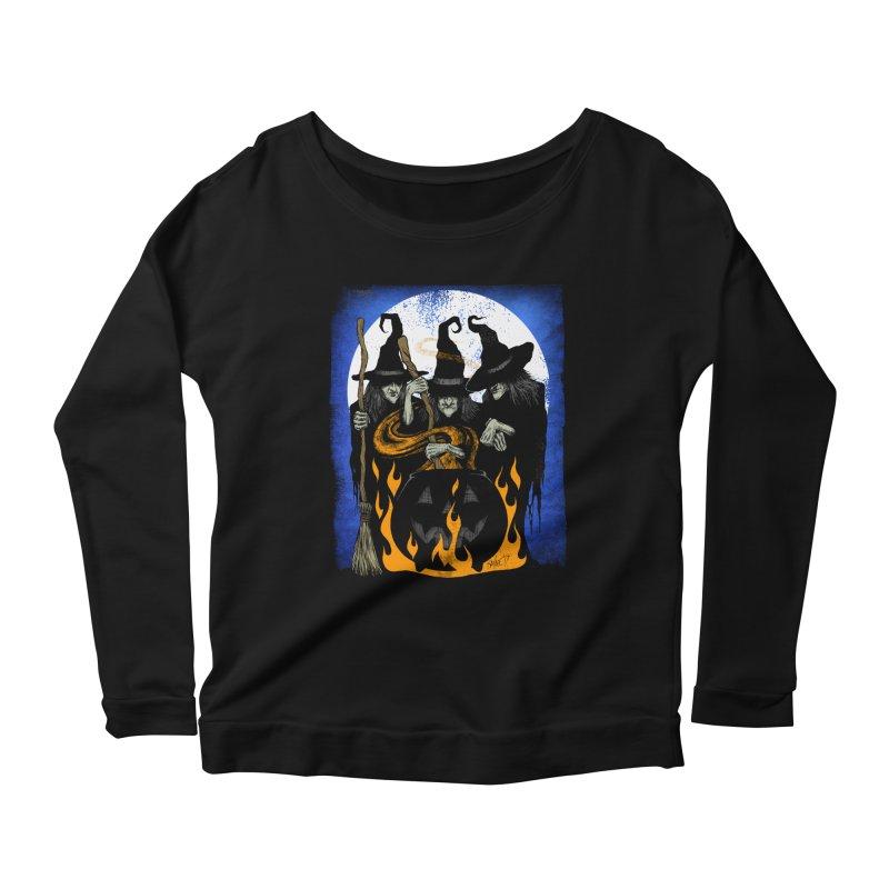 Cauldron Crones Women's Longsleeve Scoopneck  by The Dark Art of Chad Savage
