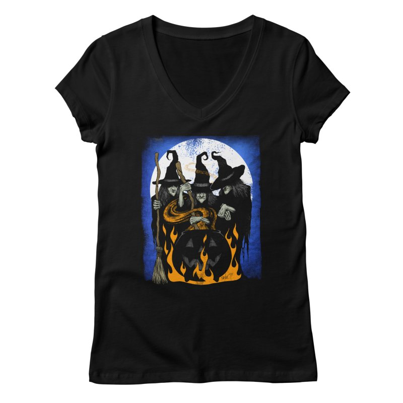 Cauldron Crones Women's Regular V-Neck by The Dark Art of Chad Savage