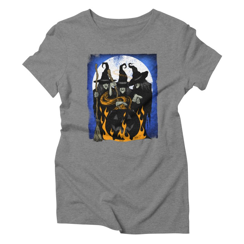 Cauldron Crones Women's Triblend T-Shirt by The Dark Art of Chad Savage