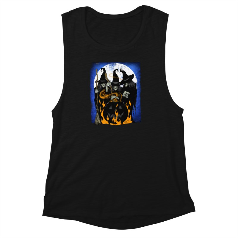 Cauldron Crones Women's Muscle Tank by The Dark Art of Chad Savage