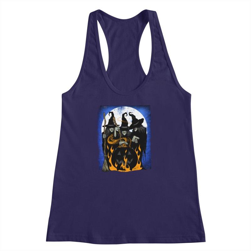 Cauldron Crones Women's Racerback Tank by The Dark Art of Chad Savage