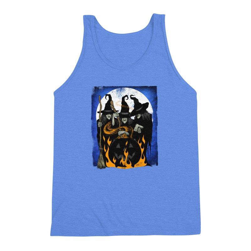 Cauldron Crones Men's Triblend Tank by The Dark Art of Chad Savage