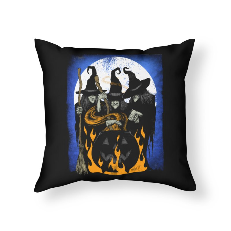 Cauldron Crones Home Throw Pillow by The Dark Art of Chad Savage