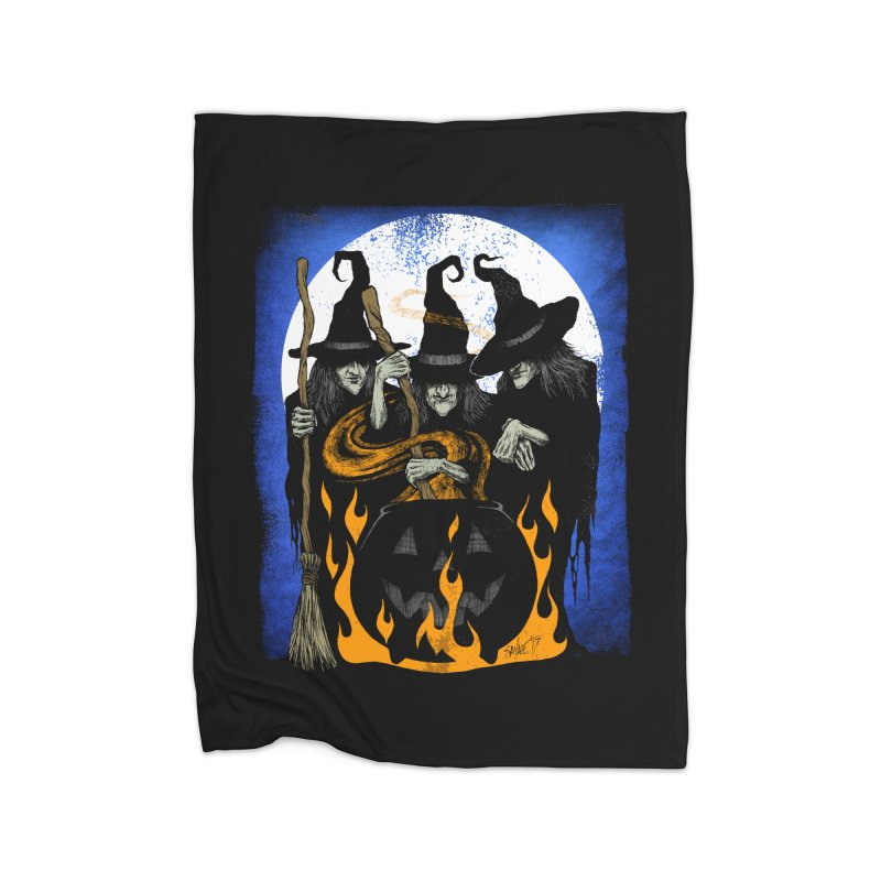 Cauldron Crones Home Blanket by The Dark Art of Chad Savage