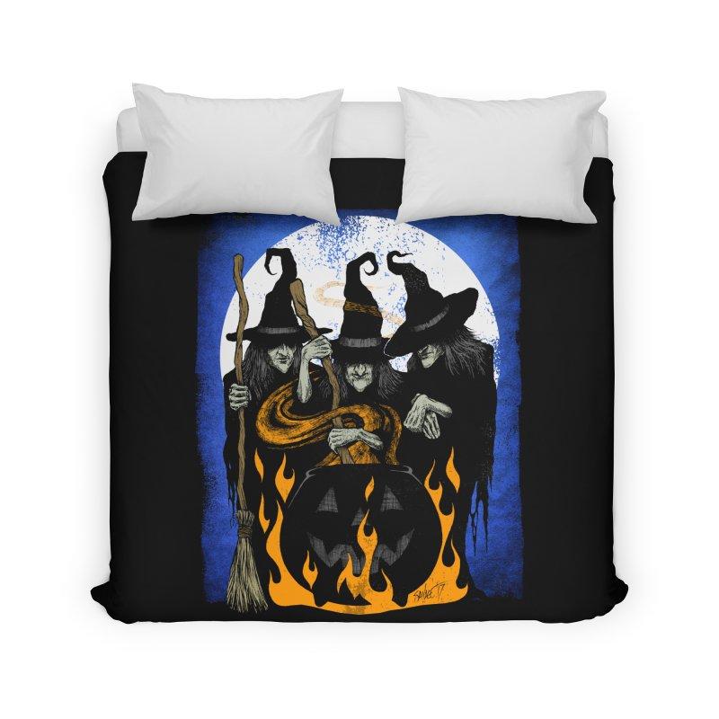 Cauldron Crones Home Duvet by The Dark Art of Chad Savage