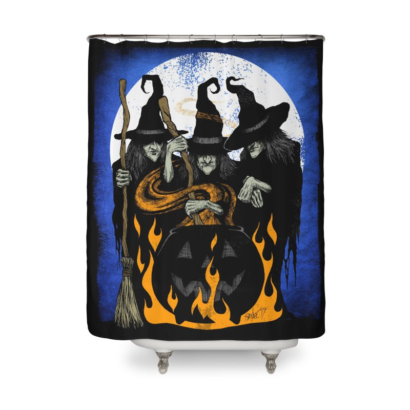 Cauldron Crones Home Shower Curtain by The Dark Art of Chad Savage