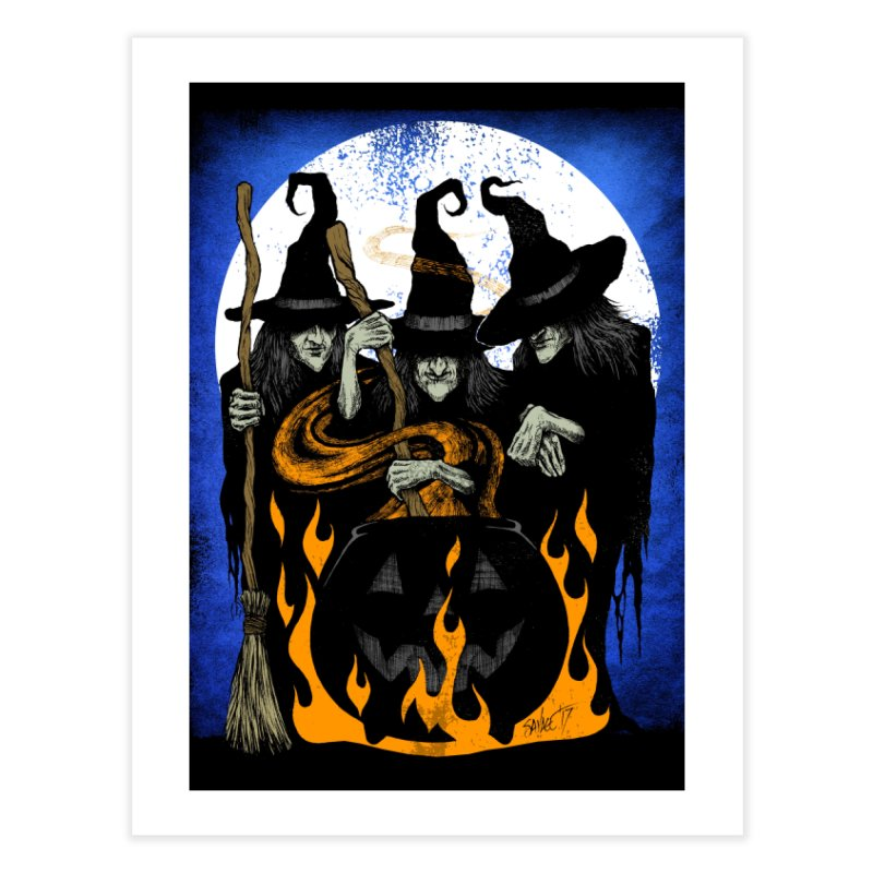 Cauldron Crones Home Fine Art Print by The Dark Art of Chad Savage