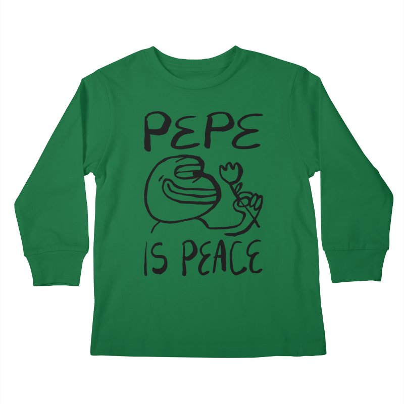 Michael Worful  Kids Longsleeve T-Shirt by Save Pepe