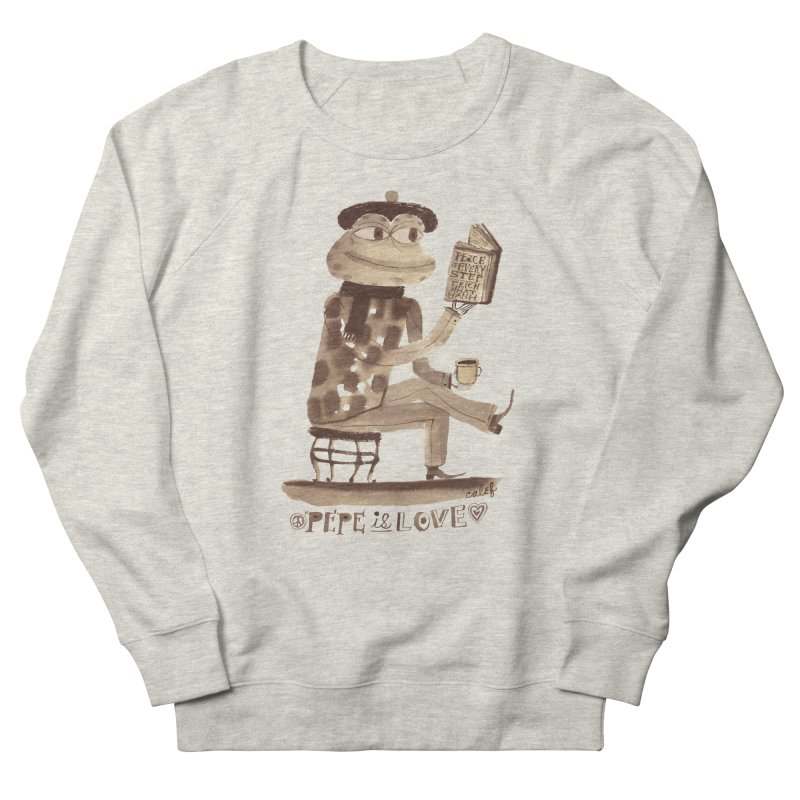 Calef Brown  Men's French Terry Sweatshirt by Save Pepe
