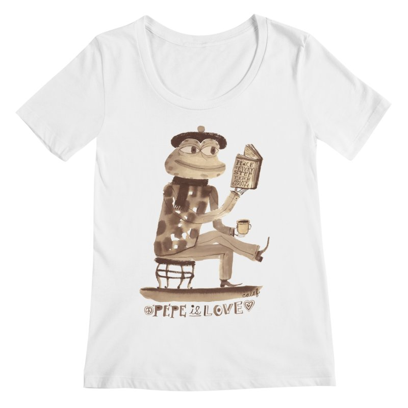 Calef Brown  Women's Scoopneck by savepepe's Artist Shop