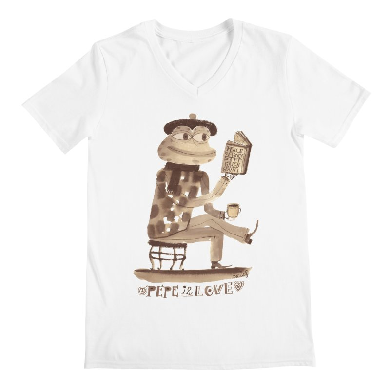 Calef Brown  Men's V-Neck by Save Pepe