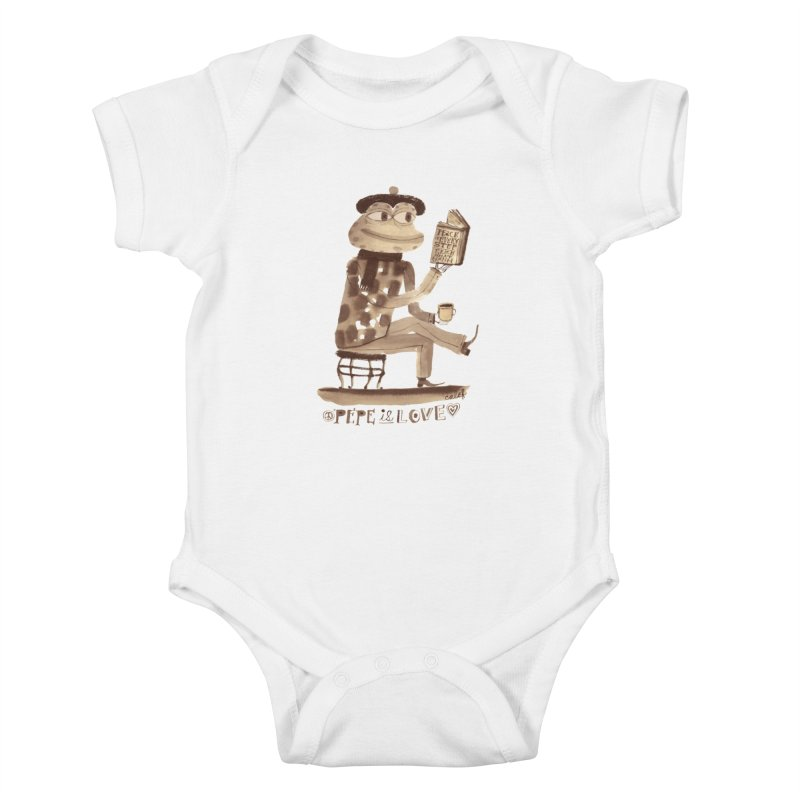Calef Brown  Kids Baby Bodysuit by Save Pepe