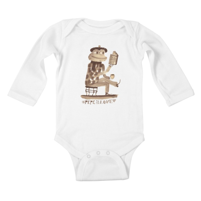 Calef Brown  Kids Baby Longsleeve Bodysuit by savepepe's Artist Shop