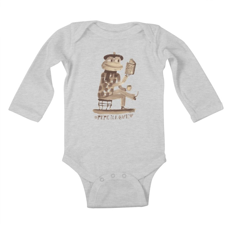 Calef Brown  Kids Baby Longsleeve Bodysuit by Save Pepe