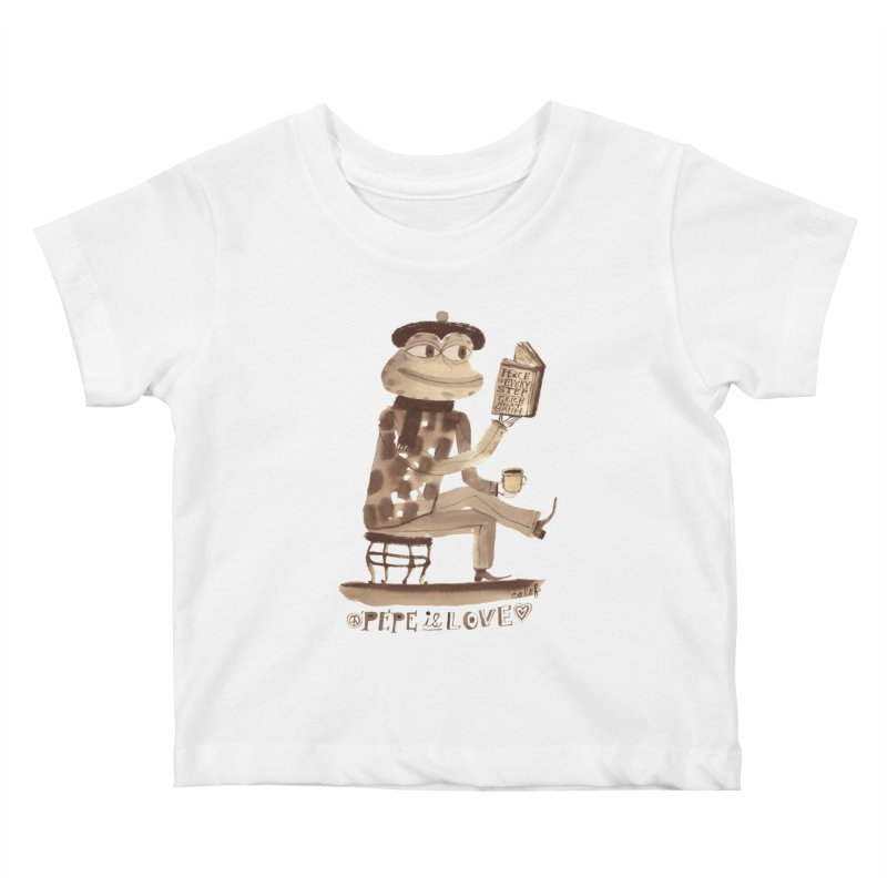 Calef Brown  Kids Baby T-Shirt by Save Pepe