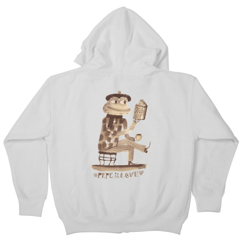 Calef Brown  Kids Zip-Up Hoody by savepepe's Artist Shop