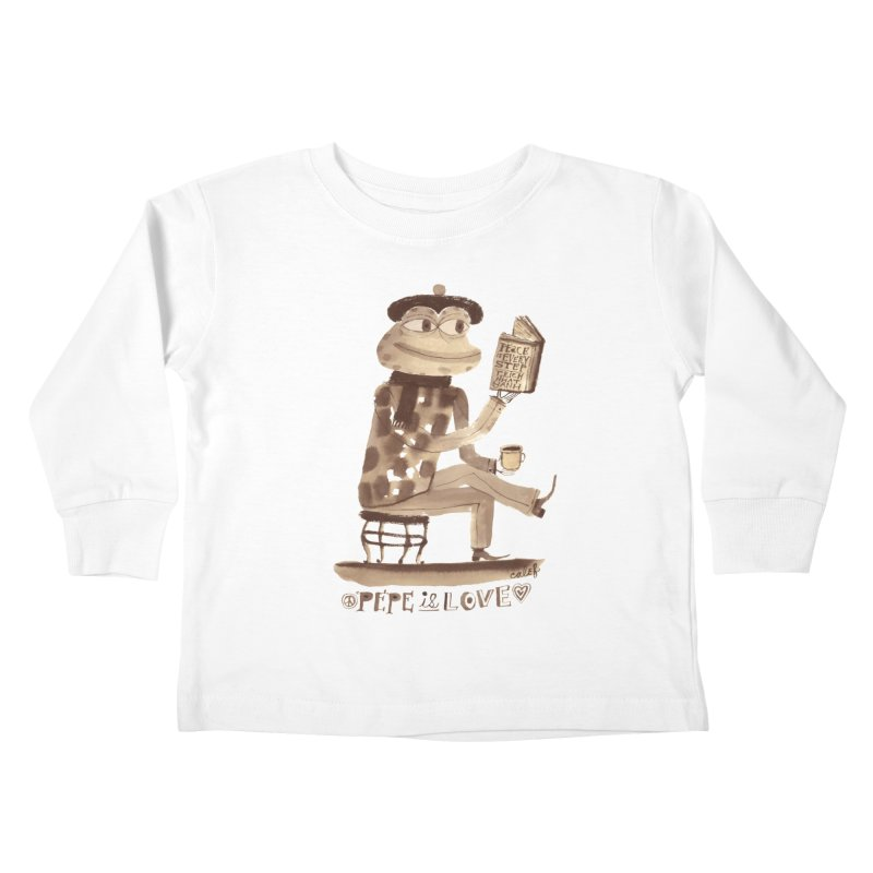 Calef Brown  Kids Toddler Longsleeve T-Shirt by savepepe's Artist Shop