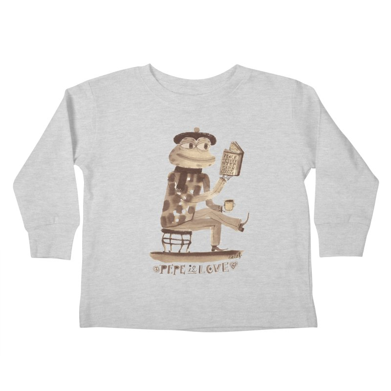 Calef Brown  Kids Toddler Longsleeve T-Shirt by Save Pepe