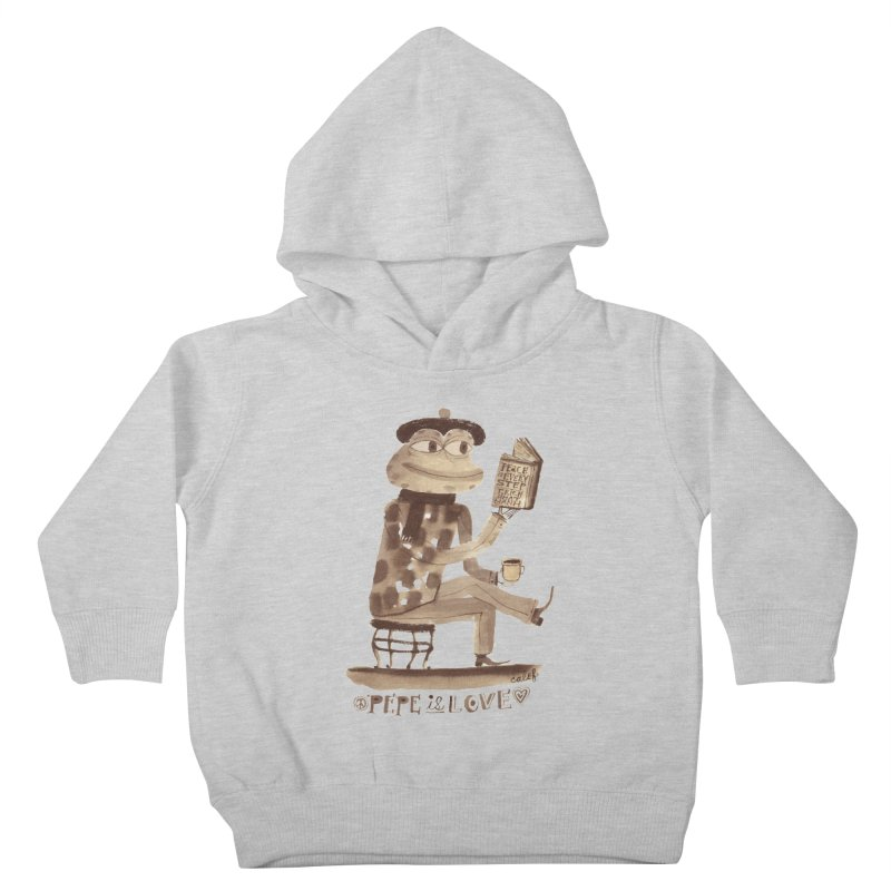 Calef Brown  Kids Toddler Pullover Hoody by Save Pepe
