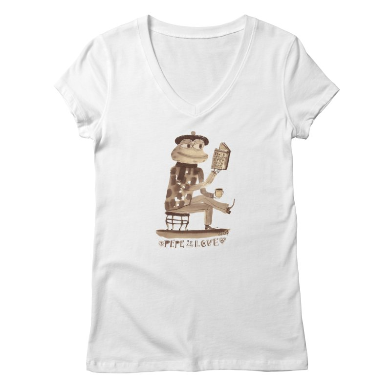 Calef Brown  Women's V-Neck by Save Pepe