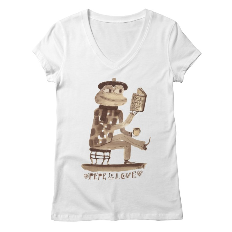 Calef Brown  Women's Regular V-Neck by savepepe's Artist Shop