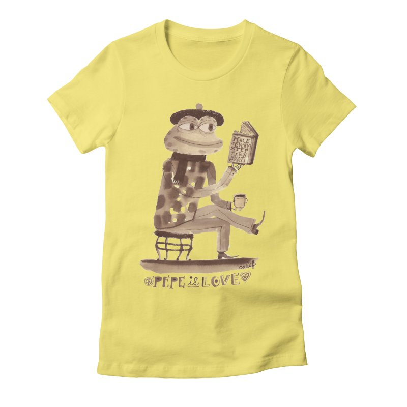 Calef Brown  Women's Fitted T-Shirt by savepepe's Artist Shop
