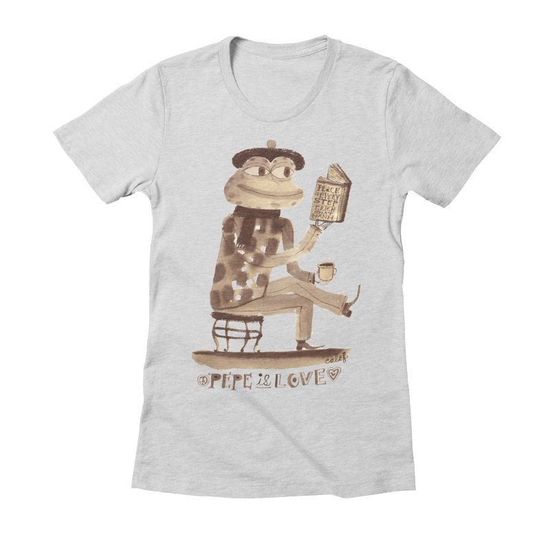 Calef Brown  Women's Fitted T-Shirt by Save Pepe
