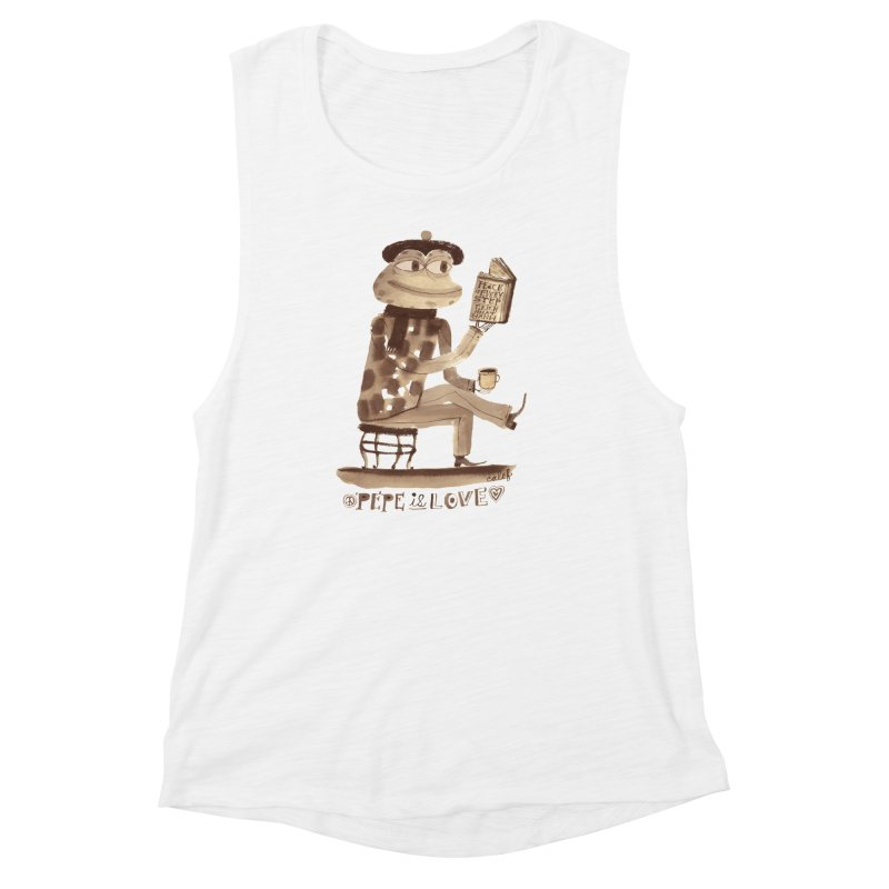 Calef Brown  Women's Muscle Tank by savepepe's Artist Shop