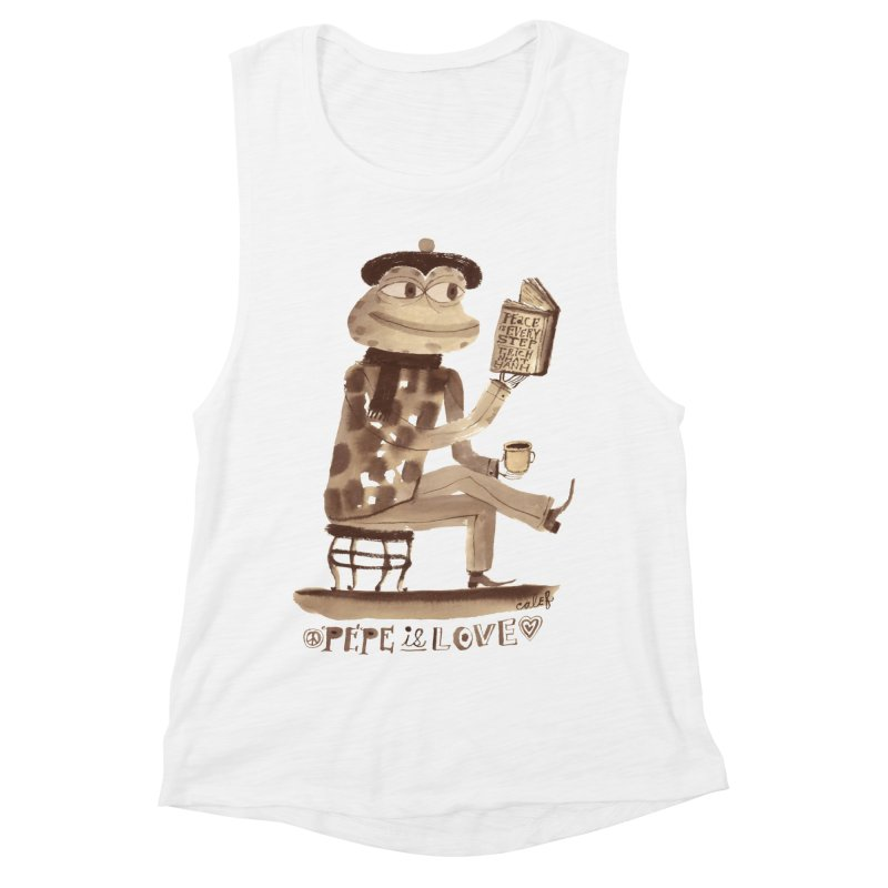 Calef Brown  Women's Muscle Tank by Save Pepe