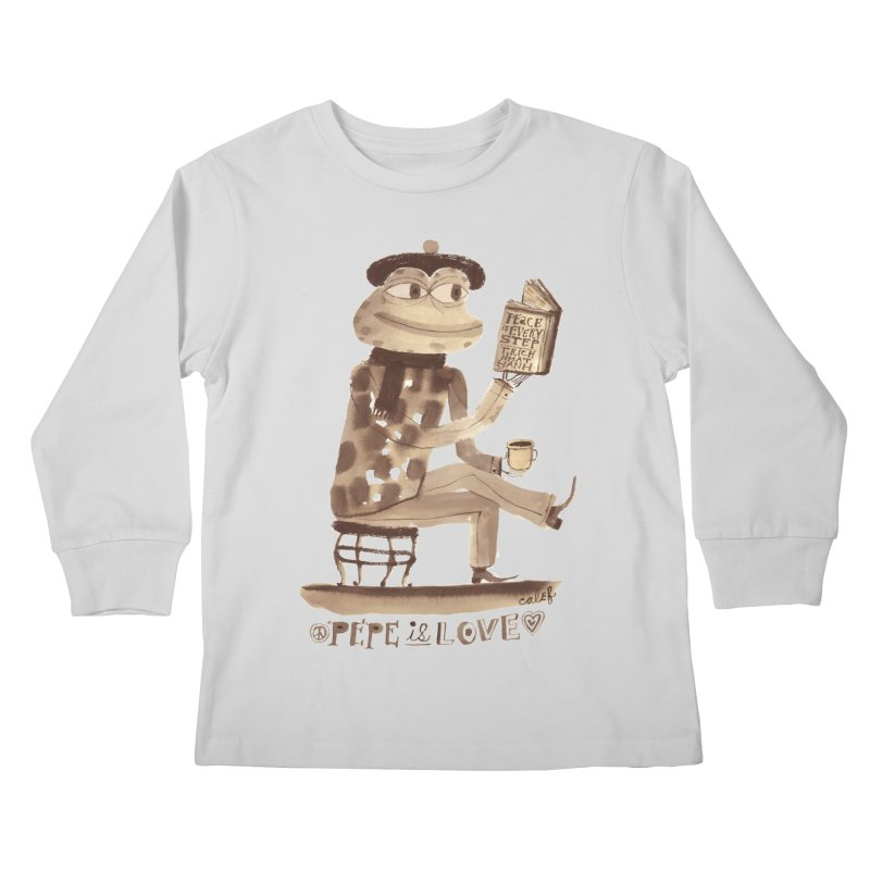 Calef Brown  Kids Longsleeve T-Shirt by Save Pepe