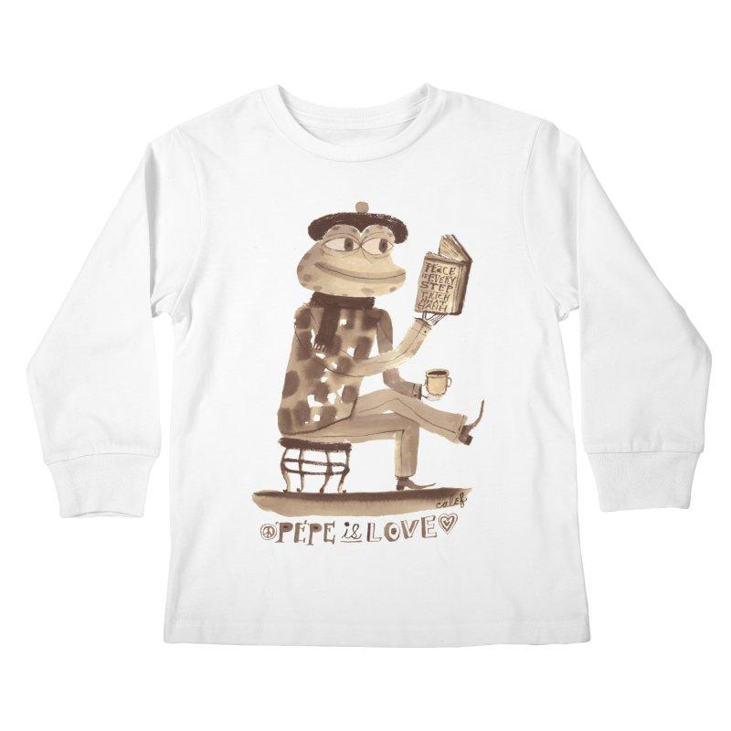 Calef Brown  Kids Longsleeve T-Shirt by Save Pepe